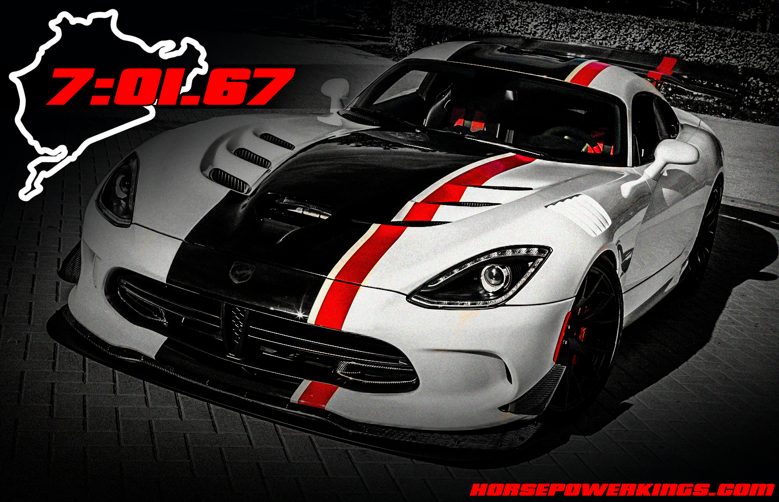 The 2016 Viper ACR Cracked Off A 7:01.67 Nurburgring Lap Time Back In  October | HorsepowerKings.com