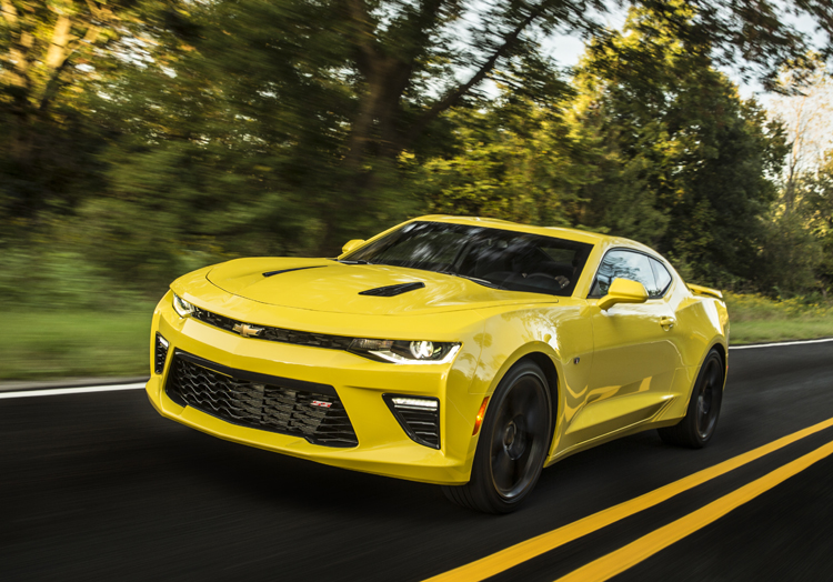 2016 Chevrolet Camaro Ss Yellow Front Driving