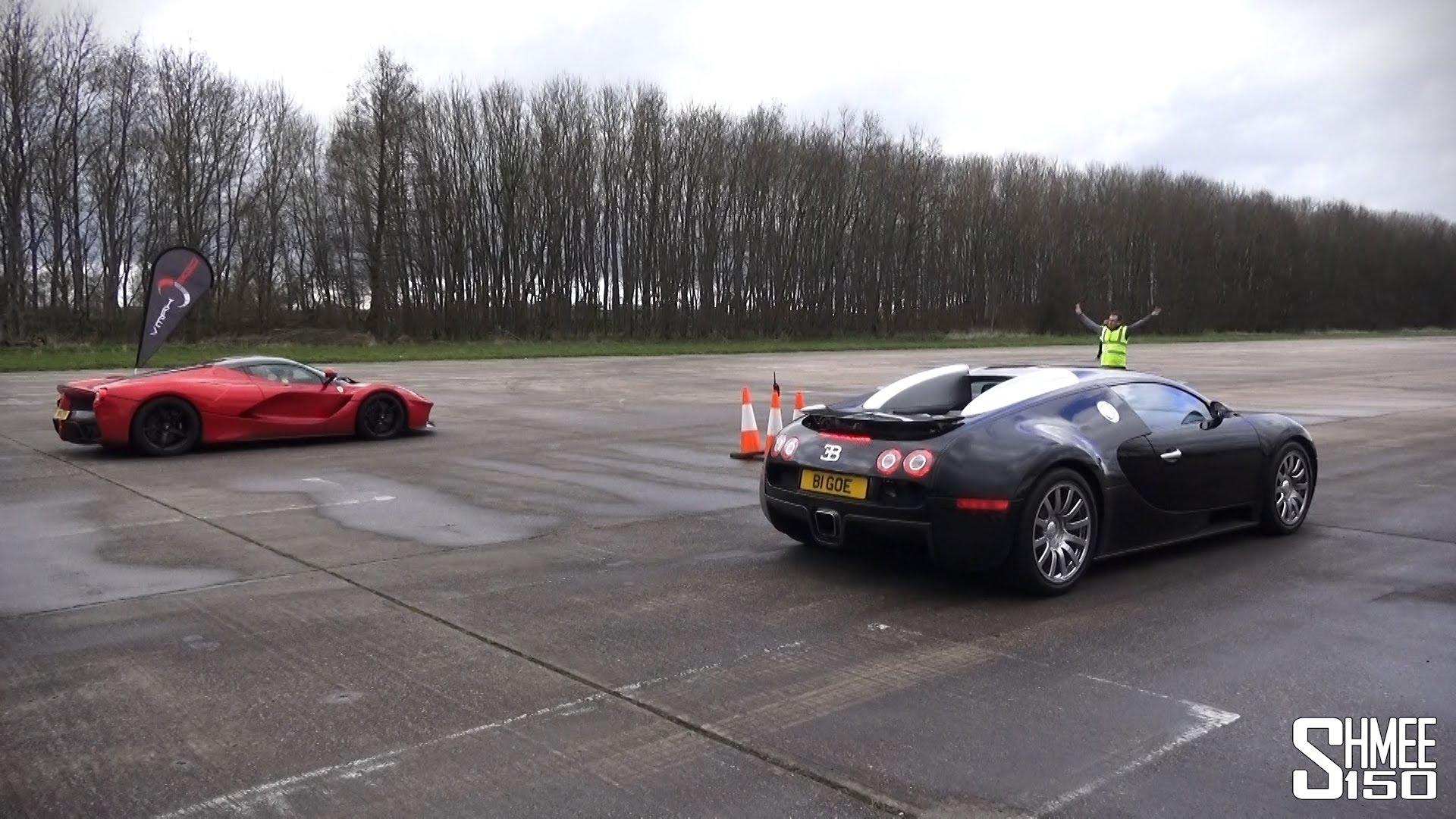 Bugatti Veyron vs. Ferrari LaFerrari \u2013 Drag Race (Video